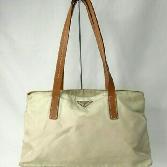 408d77326dc7 Prada Bags | Vintage Ivory Tote Beige Messenger Tote Bag | Poshmark
